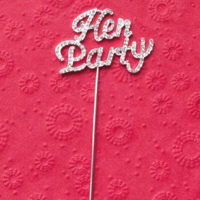 Hen Party Diamante Cake Decoration