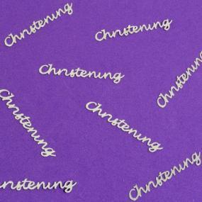 Silver Christening Table Confetti