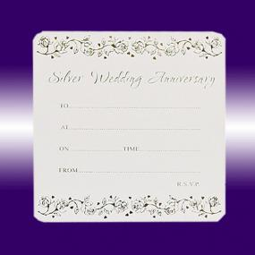 25th  Silver Wedding Anniversary Invitations - Single Sided