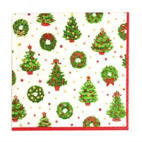 Deck The Halls Christmas Napkins - Dinner Size by Caspari