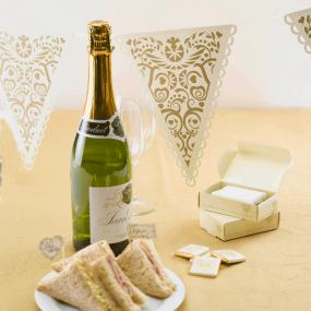 Vintage Romance Gold and Ivory Bunting
