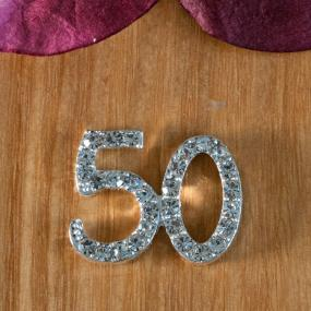 Small Diamante 50th Birthday Cake Decoration