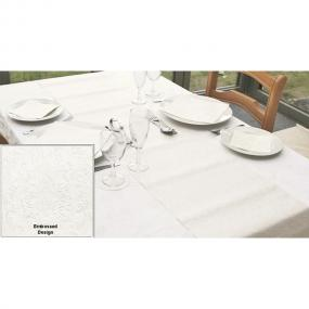 Moments Ornament Embossed Pearl Table Runner