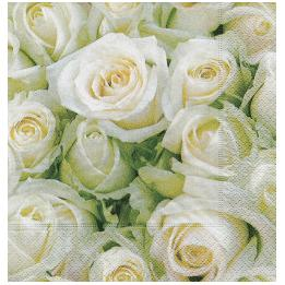 White Roses Luncheon Napkins