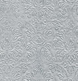 Moments Ornament Embossed Silver Napkins - Cocktail Size