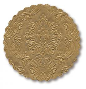 Moments Ornament Embossed Gold Coasters