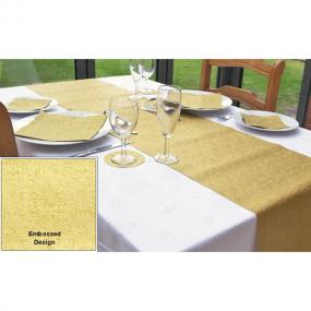 Moments Ornament Gold Embossed Paper Table Runner