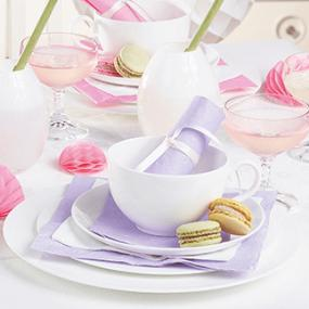 Lilac Moments Paper Dinner Napkins