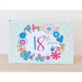 Vintage Style 18th Birthday Guest Book