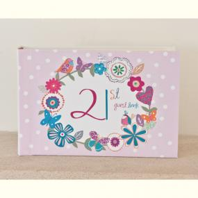 Vintage Style 21st Birthday Guest Book