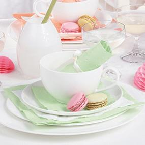 Mint Green Paper Napkins - Dinner Size