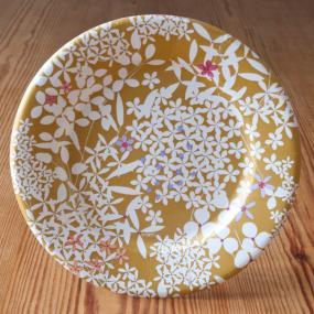 Gold Floral Lace Paper Side Plates By Caspari