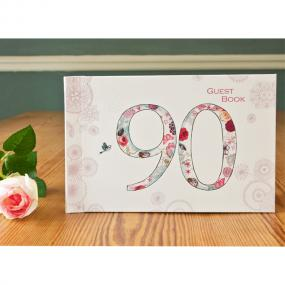 Vintage Style 90th Birthday Guest Book
