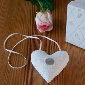 Nottingham Lace Lucky Bridal Sixpence Heart by Trousseau