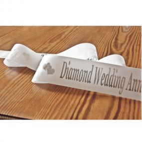 60th Diamond Wedding Anniversary Cake Ribbon