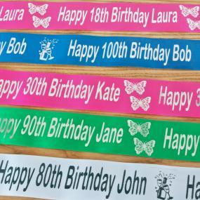Personalised Birthday Cake Ribbon