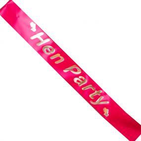 Hot Pink Hen Party Sash