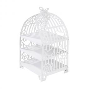 Something In The Air White Birdcage Cake Stand