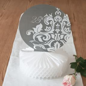 25th Silver Wedding Anniversary Centrepiece