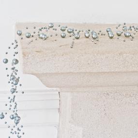 Silver Pearl Garland - 2 metres