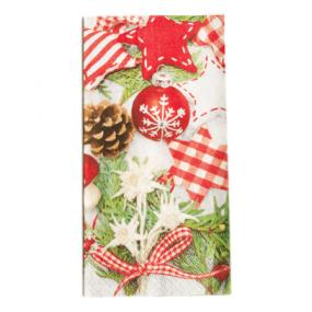 Red and Green Christmas Buffet Napkins - Craft