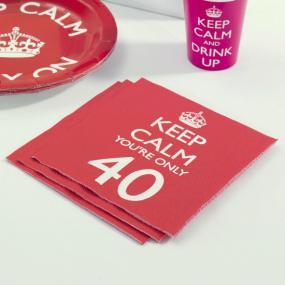 40th Birthday Keep Calm Napkins