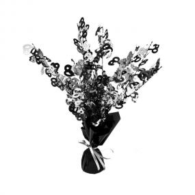 60th Birthday Centrepiece Black and Silver