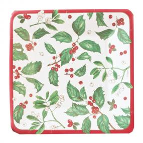 Christmas Paper Side Plates - Holiday Greens by Caspari