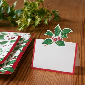 Christmas Place Cards - Holiday Greens by Caspari