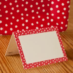 Christmas Place Cards - Red Dots by Caspari