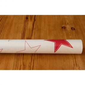 White and Red Star Christmas Banquet Roll