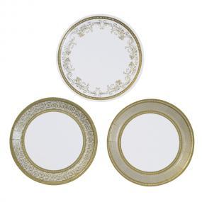 Gold Canape Plates - Party Porcelain