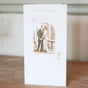 25th Silver Wedding Anniversary Card - Couple