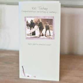 100th Birthday Card - Cricket