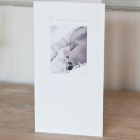 Girls Christening Card - Baby and Bible