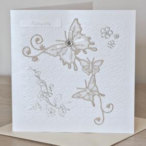 Butterfly Design Wedding Card