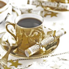 Party Porcelain Gold Saucer Crackers