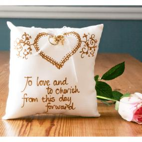 Ring Pillow - To Love and To Cherish by Adornment