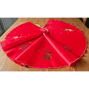 Blitzen Christmas Tree Skirt