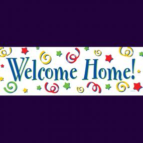 Large Welcome Home Banner