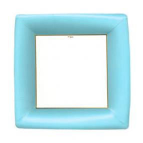 Mediterranean Blue Square Paper Dinner Plates by Caspari