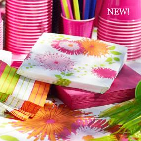 Tropical Florals Paper Dinner Napkins