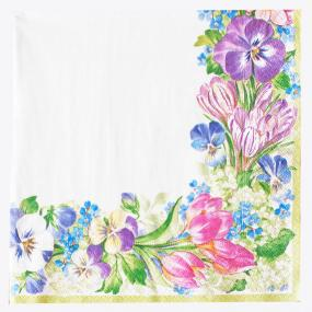 Spring Garland Paper Luncheon Napkins