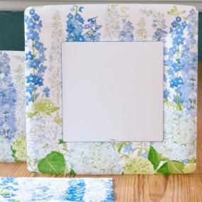 Delphiniums Paper Dinner Plates