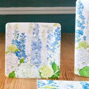 Delphiniums Paper Side Plates