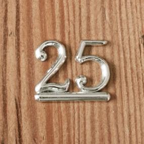 Silver 25 Anniversary Cake Decoration