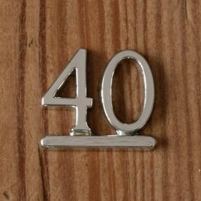Silver 40 - 40th Birthday Cake Decoration