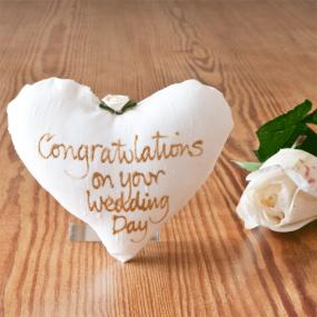 Small Bridal Heart - Congratulations on your Wedding Day
