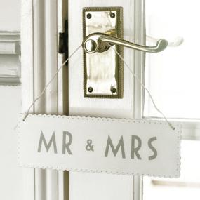 Mr and Mrs Wedding Sign By East Of India