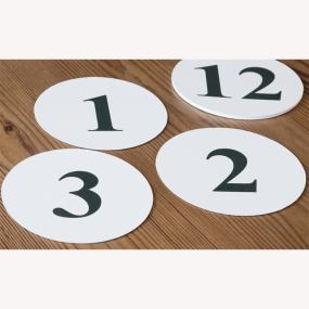Table Numbers - Round 1 - 12